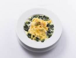 Baked Spinach and Mozzarella with Crab  At Kantary Hotel, Ayutthaya