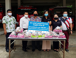 Cape & Kantary Hotels Donate Survival Bags Valued 100,000 Baht to Sriracha Municipality  during COVID-19 Pandemic